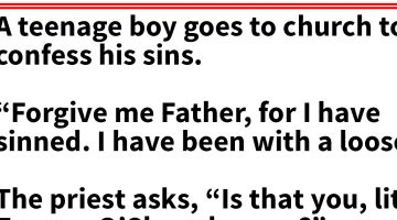 Unexpected confession takes the priest off guard, but the boy had other ideas in mind