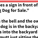 Man sees a sign saying there's a talking dog for sale, but of course there's a catch
