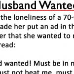 """Older widow who placed """"Husband Wanted"""" ad with strict rules gets exactly what she asked for"""